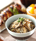 「キノコの炊き込みご飯」の献立