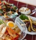 「レンジ蒸し鶏冷麺」の献立