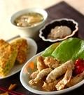 「豚肉のみそチーズ天ぷら」の献立