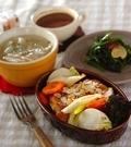 「鶏と野菜のオーブン焼き」の献立