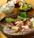 「豚肉と白菜のチーズ鍋」の献立