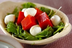 トマトの寒天サラダ