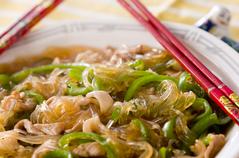 春雨と豚肉の中華炒め