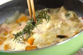 カボチャとベーコンのクリームパスタの作り方3