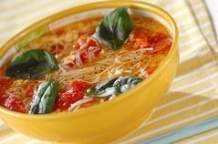 トマトと卵の温麺