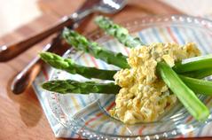 グリーンアスパラの卵ソース
