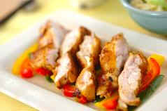 鶏肉のカレー風味焼き