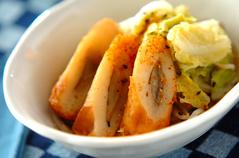 白菜とゴボ天の煮物