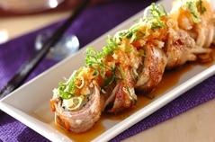 ゆでモヤシの豚肉ロール