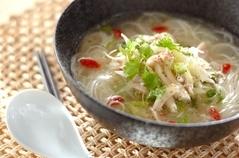 冷製鶏スープ素麺