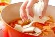 白菜のトマト鍋の作り方2