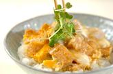 お揚げの卵とじ丼の作り方2