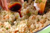 白菜チャーハンの作り方2
