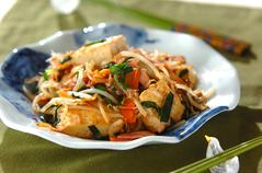 豆腐とモヤシのチャンプルー