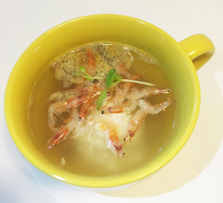 長いもと納豆のスープ