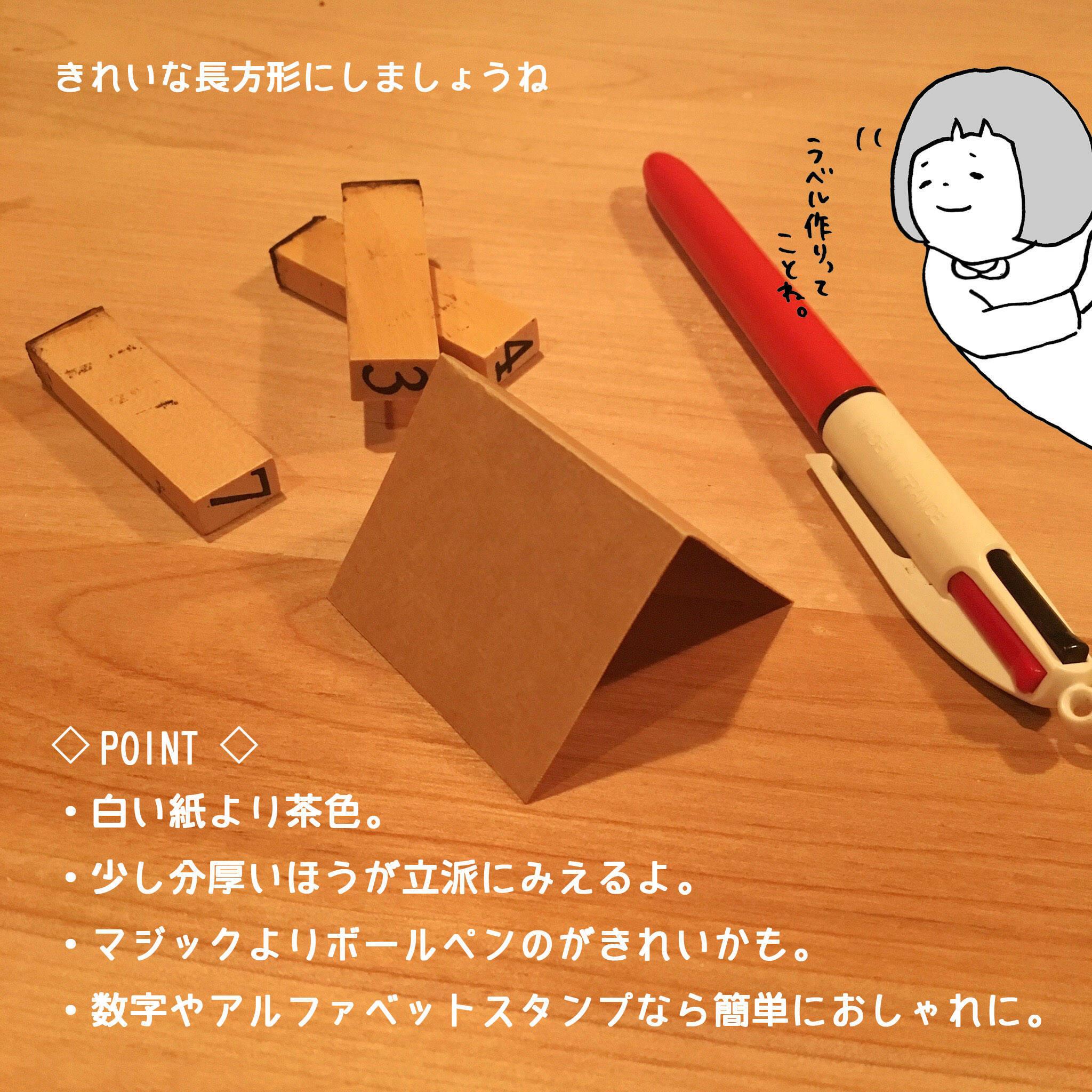 用意するのは綺麗に切って山おりにした小さな紙