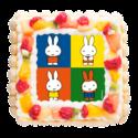 可愛すぎて食べられない!写真プリントもOKの「ミッフィ」ケーキ