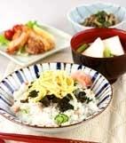 簡単タラコちらし寿司の献立