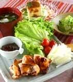 鶏もも肉の北京ダック風の献立