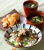 ウナギの混ぜ寿司の献立