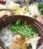 鯛シャブ鍋の献立