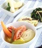白菜とソーセージの煮物の献立