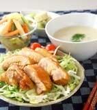 鶏の甘辛しょうゆ煮の献立