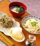 タケノコご飯の献立