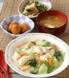 白菜と鶏肉のクリーム煮の献立