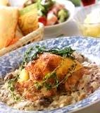 鶏オーブン焼/2種ソースの献立