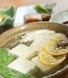 湯豆腐・かつおじょうゆの献立