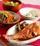 赤魚の煮付けの献立