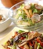 豚肉と米ナスのゴマ炒めの献立