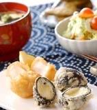 ホタテとチーズの天ぷらの献立