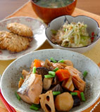鮭の煮物の献立