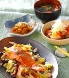 鮭と野菜の蒸し煮の献立