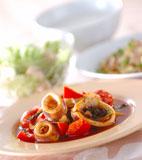 イカのトマト炒め煮の献立