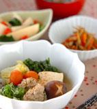 豚肉団子と白菜の煮物の献立