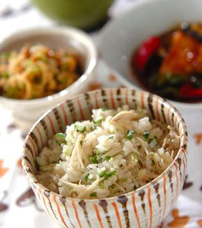 エノキのシンプル炊き込みご飯の献立
