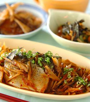 サバの韓国煮の献立