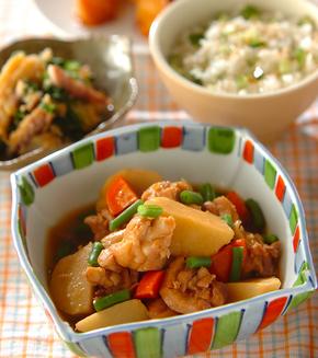 鶏肉と里芋の煮物の献立