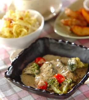サワラとブロッコリーのクリーム煮の献立