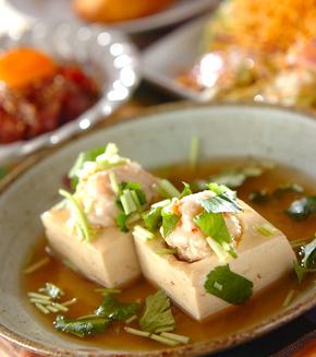 豆腐とエビのあんかけ煮の献立