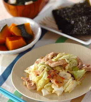 豚肉とキャベツのシンプル炒めの献立
