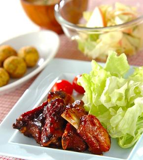 骨付き豚バラ肉のママレード煮の献立