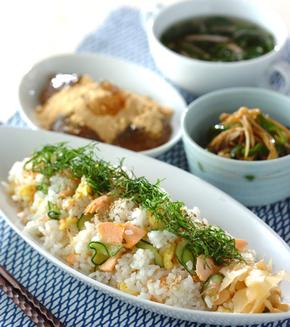 塩鮭のさっぱり混ぜ寿司の献立