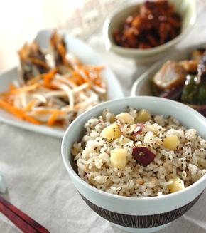 サツマイモの炊き込みご飯の献立
