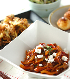 ロール白菜のトマトソース煮の献立
