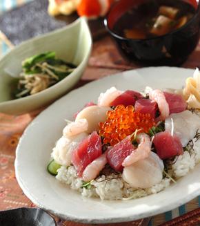 海鮮ちらし寿司の献立