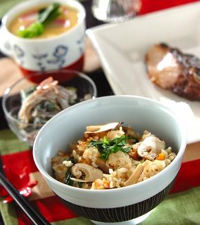 秋の味覚!松茸ご飯の献立